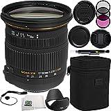 Sigma 17-50mm f/2.8 EX DC OS HSM Zoom Lens (for Nikon DSLRs with APS-C Sensors) Bundle Includes Manufacturer Accessories + 3 PC Filter Kit + Lens Cap + Lens Pen + Cap Keeper + Microfiber Cloth