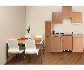 Bloque de cocina respekta Mini Single bloque de cocina de 180 cm haya serías KB180BBC