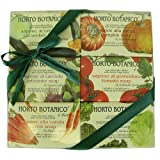 Vegetable Theme Gift Set of 6 Floral Soaps, Italian Vegetable Bar Soap