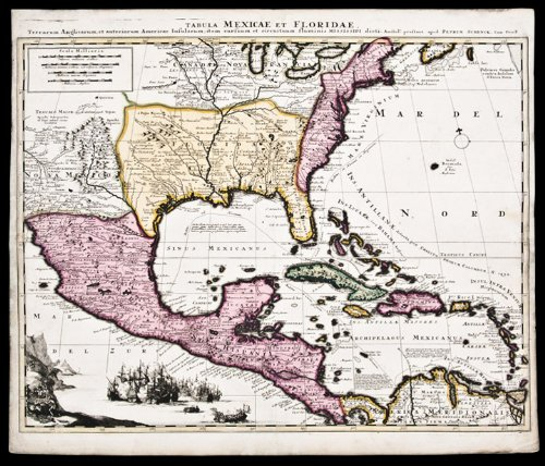 Map Of Central America, Florida, Caribbean