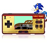 Hisonders 8 bit 2.8'' TFT LCD FC Retro Digital Games Portable Console Built-in 508+130 Games with Speaker - Brown
