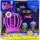 Littlest Pet Shop Happiest 930 Blue Canary And 931 Purple Canary Portable Gift Set