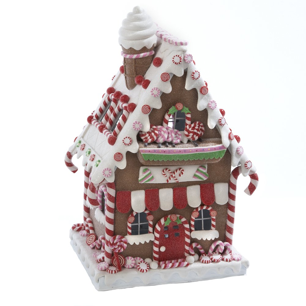 Lighted gingerbread house table decorations christmas wikii for House table decorations