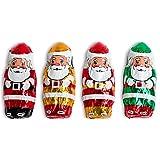 Madelaine Solid Premium Milk Chocolate Mini Santa's, Wrapped In Italian Foil Featuring Assorted Designs - 1 LB (Tamaño: 1 lb)
