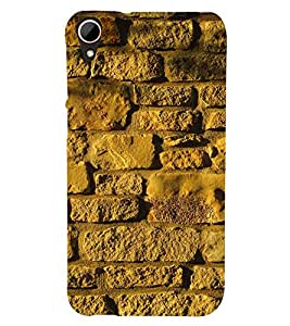 EPICCASE Yellow wall Mobile Back Case Cover For HTC Desire 828 (Designer Case)