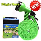 Vere Gloria Garden Hose 50 Feet Green, Expanding Expandable, Multi-function, Water Garden, Plants, Grass, Floor Cleaning, Auto, Car, RV, Boat, Dock, Spring, Holiday, Mother's Day Gift, No Kinking, Flexible, Lightweight, No Tangle, Twist, 7 In 1 Sprayer Gun Included, Pocket Hose, Flex-Able Hose, Magic Hose, Shrinking Hose, DAP Xhose, Flexable Hose, Expands to 3 Times its Original Length