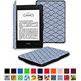Fintie SmartShell Case for Kindle Paperwhite - The Thinnest and Lightest Leather Cover for All-New Amazon Kindle Paperwhite (Fits All versions: 2012, 2013, 2014 and 2015 New 300 PPI), Ocean Mist