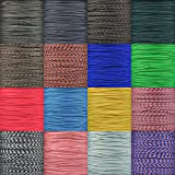 Type 1 Paracord 95 LB Tensile Strength Single Strand 2 Ply Cord in Varous Colors & Sizes