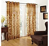 @home by Nilkamal 44'x84' Bricks Door Curtain , cream, Peach