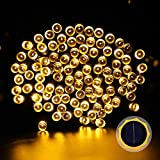 LUCKLED Solar Powered Outdoor String Lights - 72ft 200LEDs Warm White Fairy Starry Christmas Lights Decorative Lighting for Indoor - Garden - Home - Patio - Porch - Party and Holiday decorations