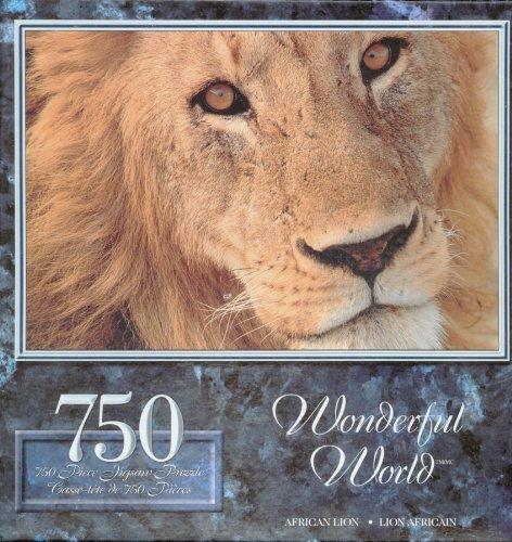 Wonderful World African Lion 750 Piece Jigsaw Puzzle