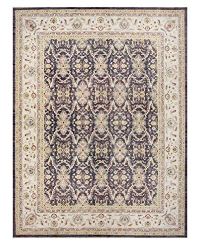 """Bashian Rugs Hand Knotted Mansehra, Eggplant, 9' x 11' 7"""""""