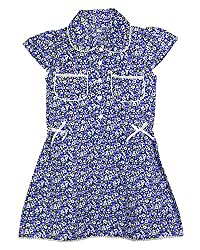 SSMITN Girls' Dress(SK2209_8-9Y, Blue, 8-9Y)
