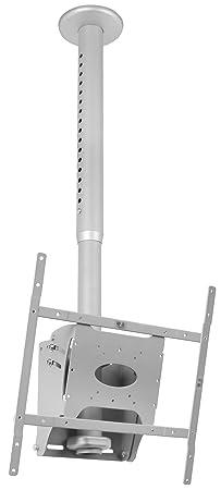 B-Tech - Techo Pantalla B-Tech BT8426 plana Monte con gota ajustable (VESA 400) en Silver