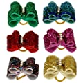 50pcs Colorful Rhinestone Shinning Pet Cat Dog Hair Bows Grooming Accessory