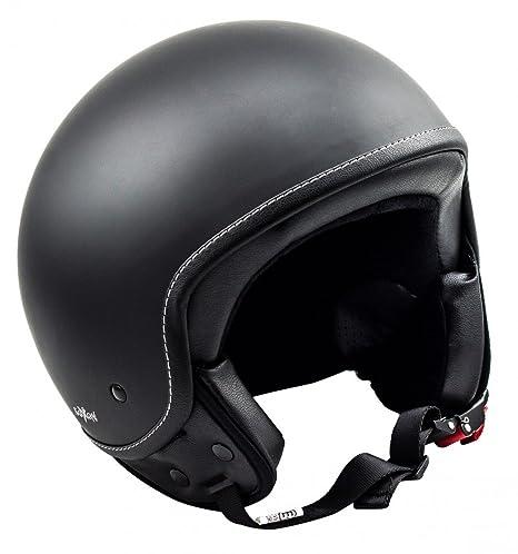 SOXON SP-301 noir casque JET moto Cruiser Pilot - Taille: XS S M L XL