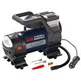 Mighty Portable Inflator, 12V, 150 PSI Air Compressor, Pump with Safety Light & Accessories (Campbell Hausfeld AF010400) (Color: Black)