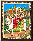 Goddess Umiya Mataji / Unjha Umiya Ma Poster with Frame (Size: 8.5x11 inch)