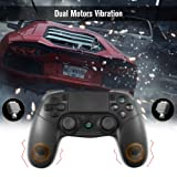 PS4 Controller, KINGEAR Wireless Controller for Playstation 4/Playstation 3/PC with Dual Vibration Game Joystick (Color: Black)