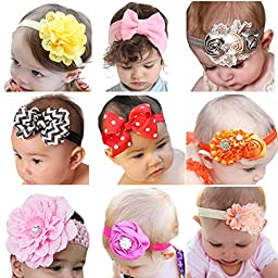 ROEWELL® Baby\'s Headbands Girl\'s Cute Hair Bows Hair bands Newborn headband