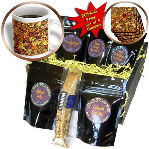 Cgb_50137_1 Add More Color - Abstract Designs - Rustic Fall Leaves - Coffee Gift Baskets - Coffee Gift Basket