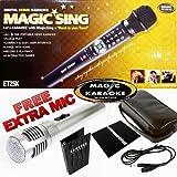 Magic Sing Karaoke Mic ET25K Spanish Version 1573 Spanish Songs+427 English+1 Free Duet Mic