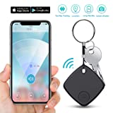 Key Finde Smart Tracke Blutooth Locator with App for Phone Wallet Tracker for Keychain Bag Purse Luggage Anti-Lost Alarm GPS Reminder Tracking Device Replaceable Battery Item Finder (Black) (Color: Black Key Finder, Tamaño: Key Finder Smart Tracker)