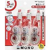 トンボ鉛筆 MONO 修正テープ モノYS5 KCA-326 3個入
