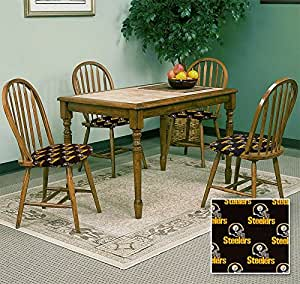 4 new dark oak dining chairs with pittsburgh
