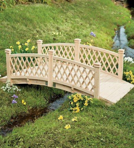 Plow Hearth 4 39 L Wooden Garden Foot Bridge With