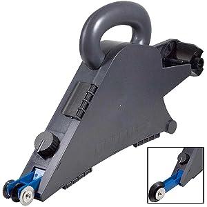 Delko Drywall Banjo Taper Handheld Taping Tool with Inside Corner Roller Creaser Wheel (Banjo + USG Knives/Trowel/Pan)