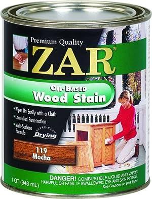 Zar Wood Stain - 11912 Qt MOCHA Stain