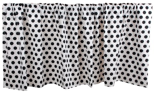 Tadpoles Damask Window Valance, Black/White