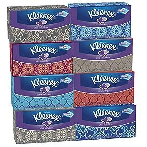 Kleenex Ultra Soft Tissues, White, 120ct, Pack of 8