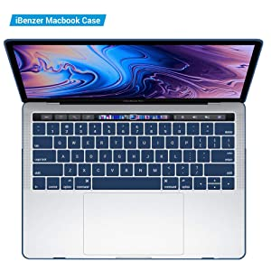IBENZER MacBook Pro 13 Inch Case 2019 2018 2017 2016 Release A2159 A1989 A1706 A1708, Soft Touch Hard Case Shell Cover for Apple MacBook Pro 13.3 with/Without Touch Bar,Navy Blue, MMP13T-NVBL+1A (Color: Navy Blue, Tamaño: New Macbook Pro 13 with/without Touch Bar)