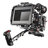 JTZ DP30 JL-JS7 Camera Cage Rig with 15mm Rail Rod Baseplate and Top Handle+Shoulder Pad and Electric Grip+Follow Focus+Matte Box+C5 Version Power Supply for SONY A9,A7 III,A7R III,A7S III Dslr Camera (Color: Camera Cage Rig+Shoulder Handle Grip+Follow Focus+Matte Box+Power Supply(C5 Version))