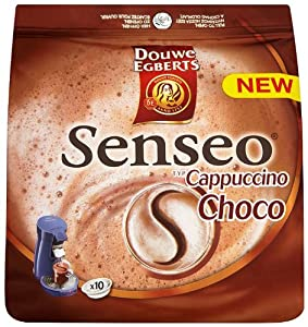 Douwe Egberts Senseo Cappuccino Choco Coffee Pods (Pack of 4, Total 40 Pods)