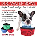 Dog Daze Pets Portable & Collapsible Dog Water Bowl (Multi Pack)