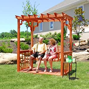 Cedar Pergola Adds Some Swing to Your Outdoor Decor