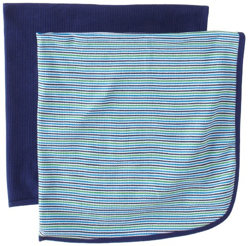 Gerber Baby-boys  2 Pack Thermal Blanket, Blue, One Size