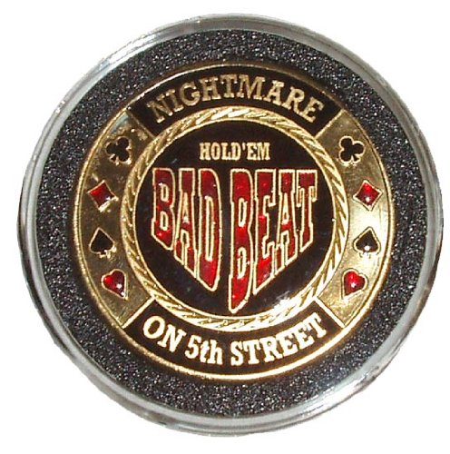 New Trademark Bad Beat Card Guard Poker Button (Black)