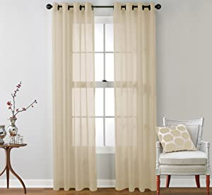No. 918 Montego 48 by 84-Inch Curtain Panel, White