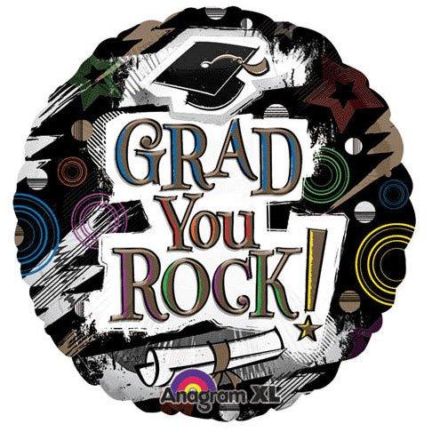 "18"" Rockin' Grad Anagram Balloons"