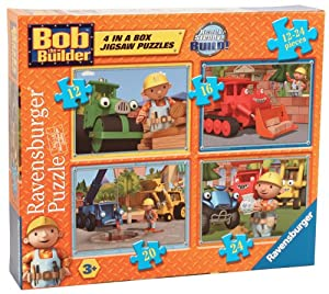 Ravensburger Bob the Builder 4 in a Box Jigsaw Puzzles