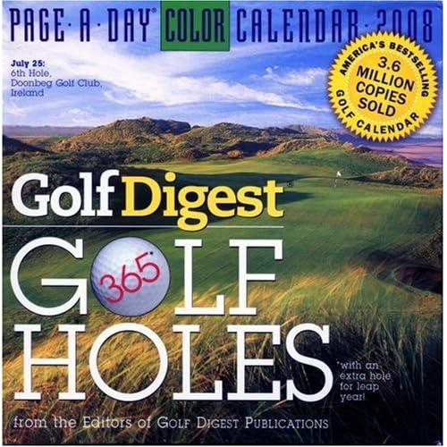 Golf Digest 365 Golf Holes 2008 Calendar