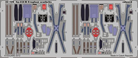 Sukhoi Su-25UB Frogfoot B ceintures de sécurité (conçu pour les maquettes Trumpeter)