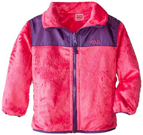 London Fog Baby-Girls Infant Reversible Fleece Jacket, Pink, 12 Months