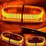 WoneNice Amber Vehicle Car Truck Emergency Hazard Warning 240 LED Mini Bar Strobe Flash Light