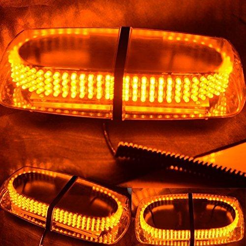 WoneNice Amber Vehicle Car Truck Emergency Hazard Warning 240 LED Mini Bar Strobe Flash Light (Amber Led Warning Lights compare prices)