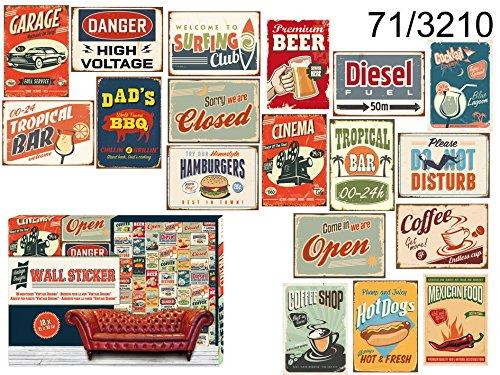 18x-Stck-Wandsticker-Aufkleber-Wand-im-Vintage-Design